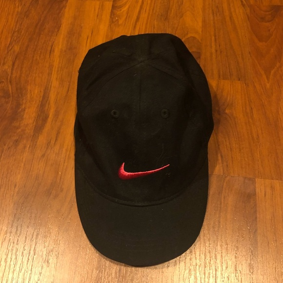 Nike Black Baseball Cap with Hot Pink Swoosh. M 5b8fd9ae1299551a480edde0 78fac958f2a